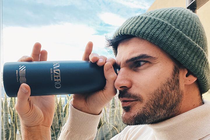 Botella reutilizable y personalizada Agua KMZero