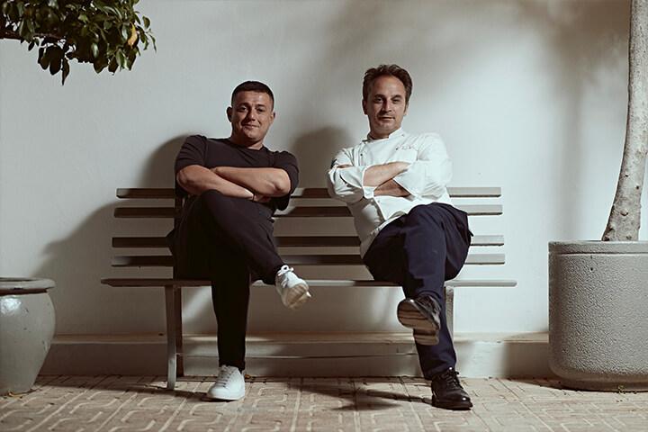 Alessio Matrone y Nino di Constanzo. Fundador y chef ejecutivo del restaurante IT Ibiza