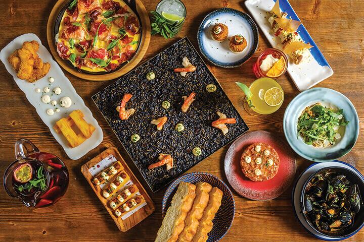 Platos deNandu Jubani en restaurante Can Carlitos, Formentera