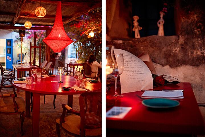 Salón comedor del restaurante Ca Na Joana. Formentera