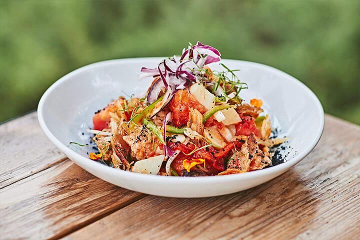 Peix sec salad. Can Pasqual Formentera