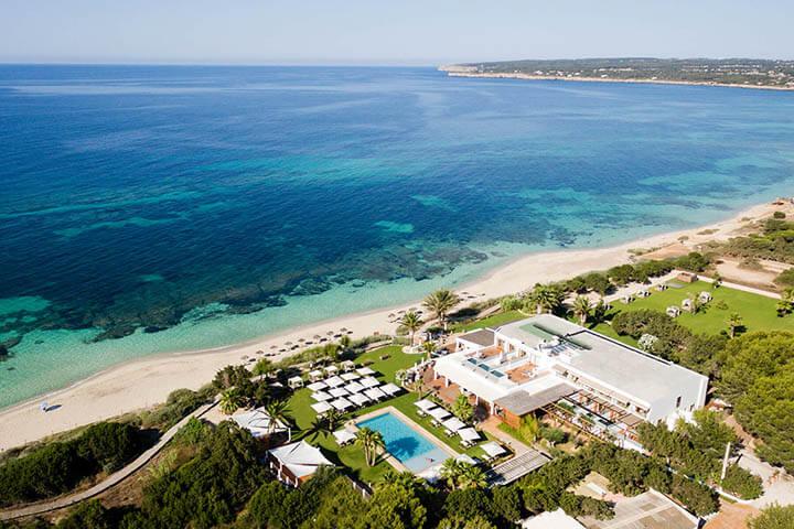 Aerial view Gecko Hotel & Beach Club Formentera.