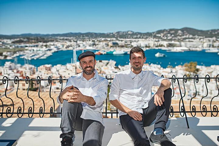 Íñigo Rodríguez head-chef and José Miguel Bonet executive chef. El Corsario Restaurant-and Terrace. Seated with views at the port of La Marina Ibiza