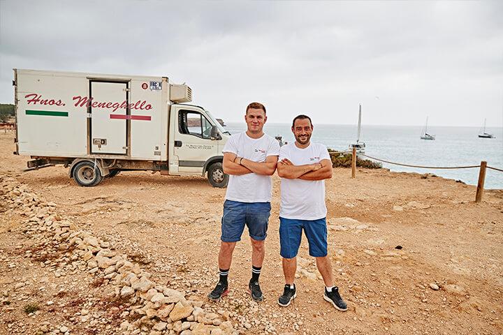 Camión de reparto Hermanos Meneghello Formentera