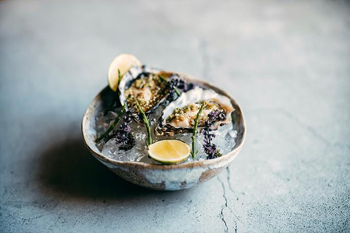 Oysters. OKU Ibiza restaurant