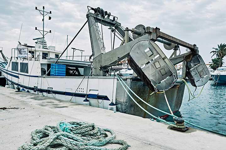 Barco de pesca tradicional de la Cofradía de pescadores de Formentera