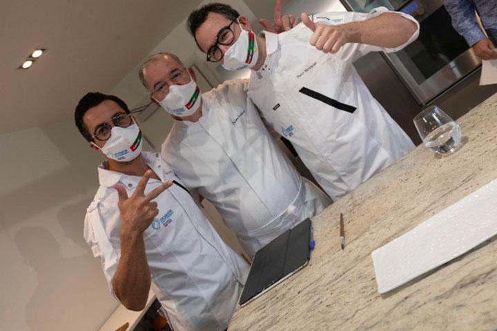 Chefs Quique Dacosta, Pedro Subijana y Paco Morales en el Gastronomika 2020