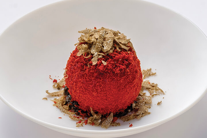 Caprese tomato with summer truffle
