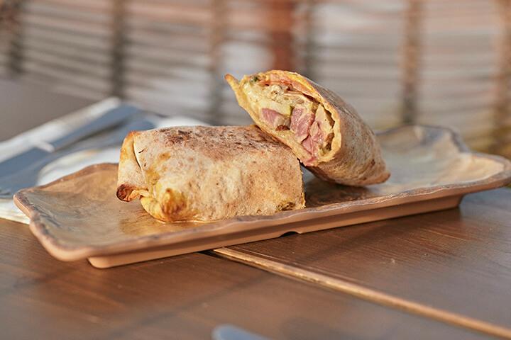 Shawarma de salmón. Can Riku Ibiza