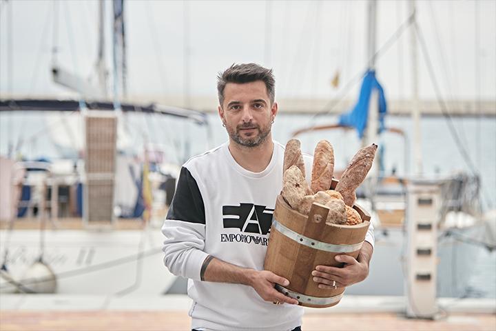 Simone Masuzzo with breads