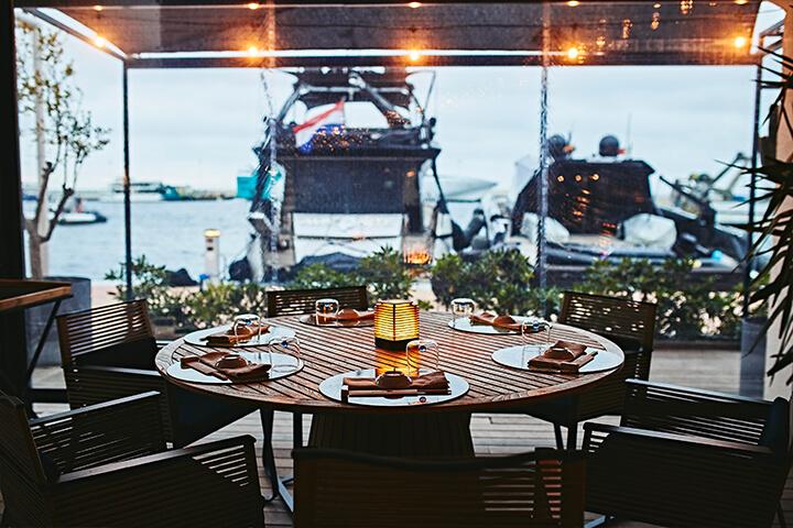 Terraza restaurante Molo47, Formentera
