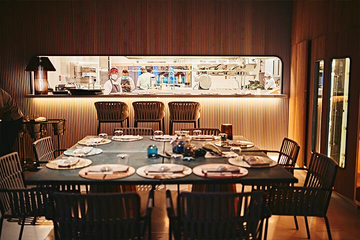 Interior del restaurante Molo47, Formentera