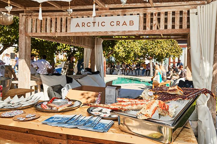 Stand de Arctic Crab en el evento gastronómico We Are Facefood