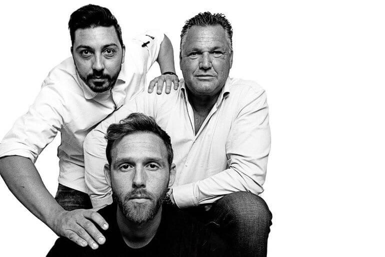 Alberto, Borja y Wesley, el alma de Xaxa Restaurant. Ibiza