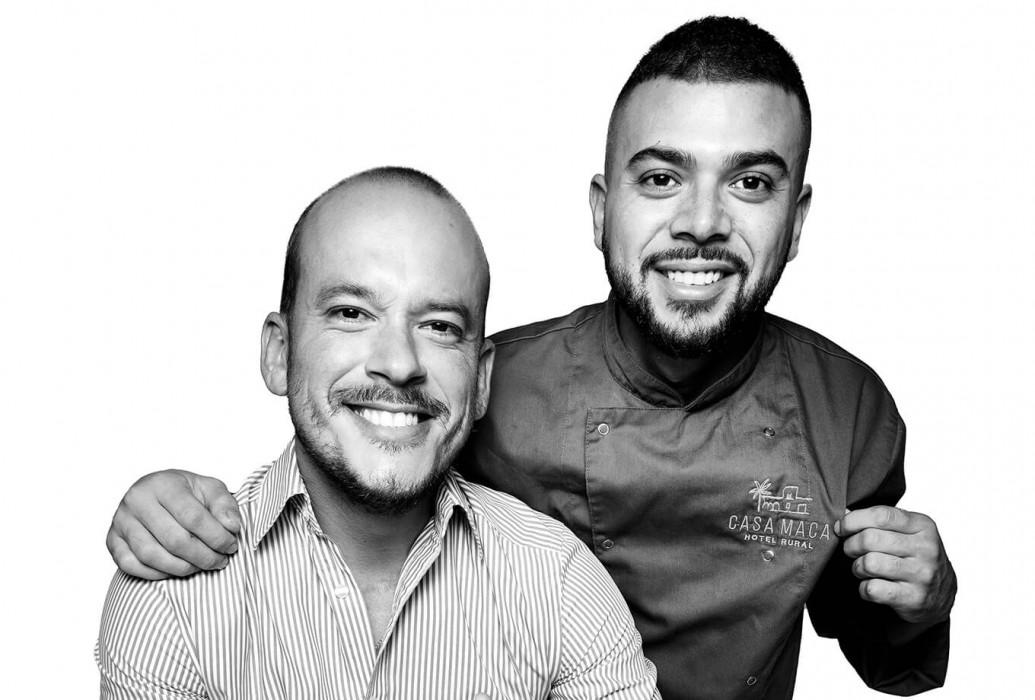 Álvaro y Javier, head chef y manager de Casa Maca, Ibiza