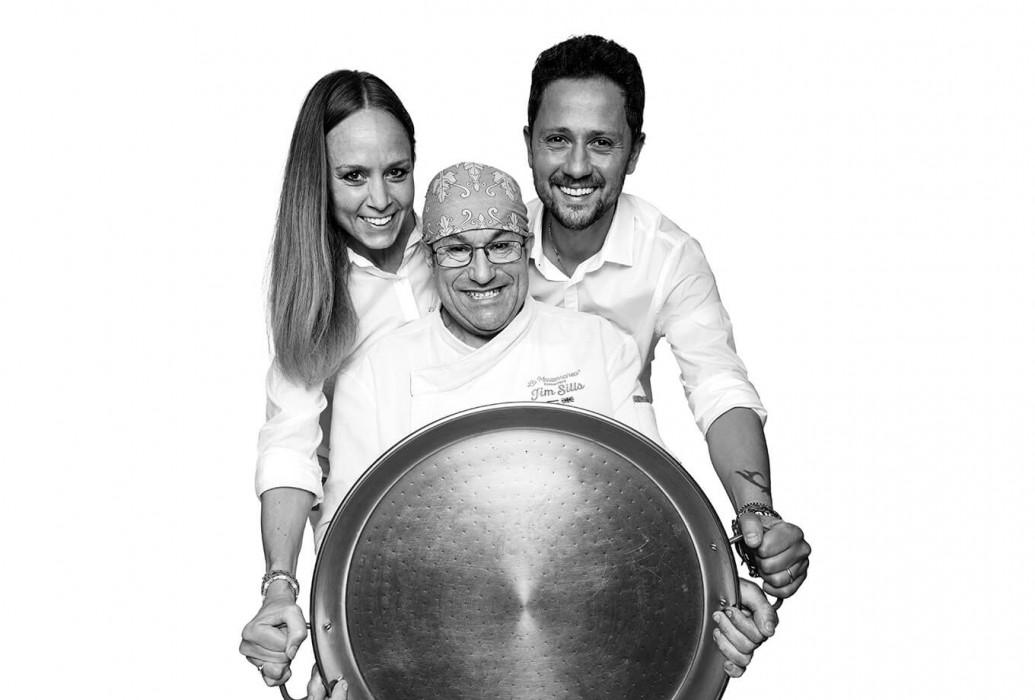 Antonio Posillipo, Pilar Jorcano and James Sills. Propietarios y chef de La Mariterranea, Formentera