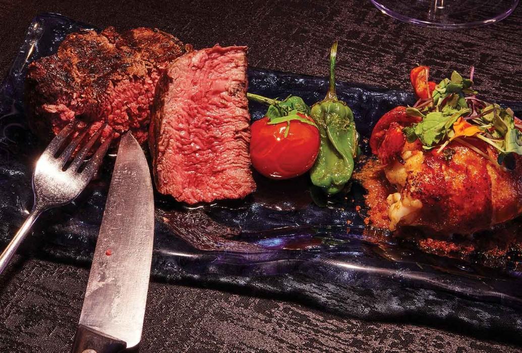 Carnes a la brasa. Restaurante Montauk Steakhouse Ibiza