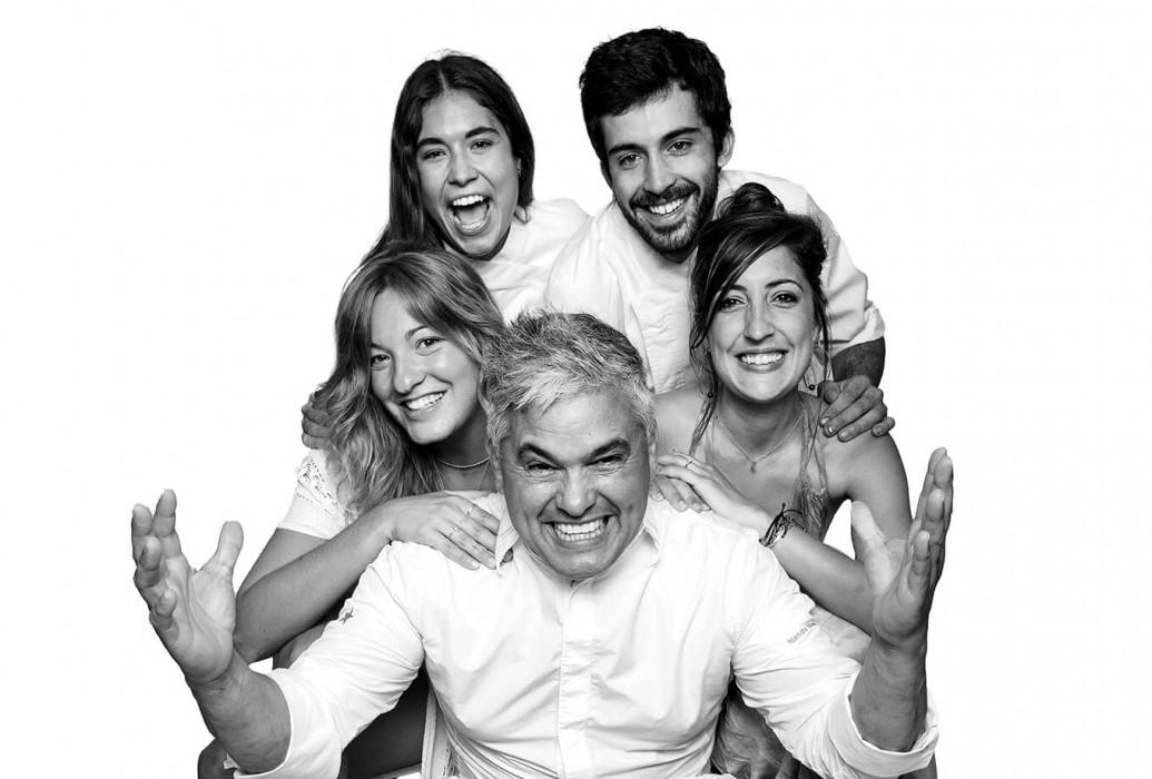 Nandu Jubany, Melani Sevilla, Ana blanqué, Marina Peña y Pablo Robert Cordomi. Can Carlitos, Formentera