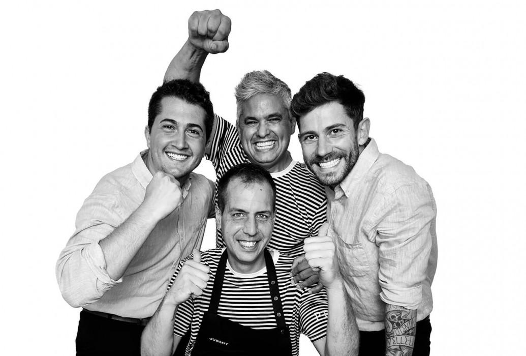 Nandu Jubany, Matías coll, Kiko Ferreira y Joan Piedra. Restaurante Pecador Ibiza