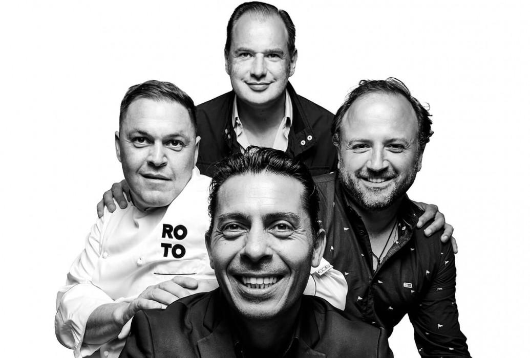 Álvaro Fernández, Trujillo Nazareno, Víctor Manuel Martínez y David de las Heras Díaz. Restaurante Roto, Ibiza