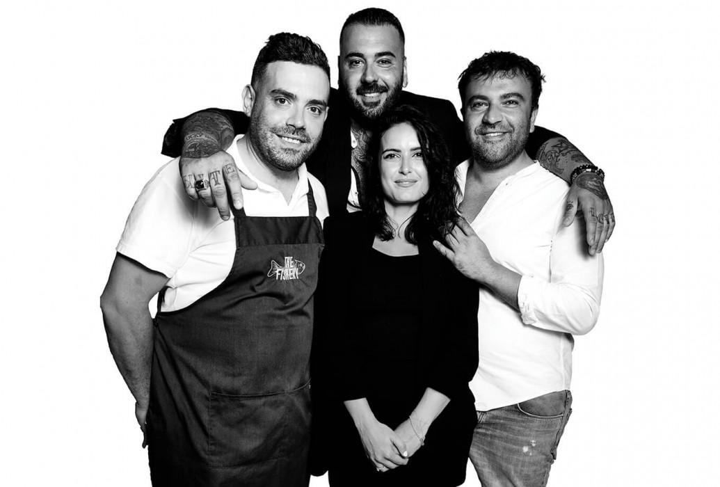 Raffaele Vito Misceo, Tommaso Tritto, Andrea Brovelli y Marta Pimentel