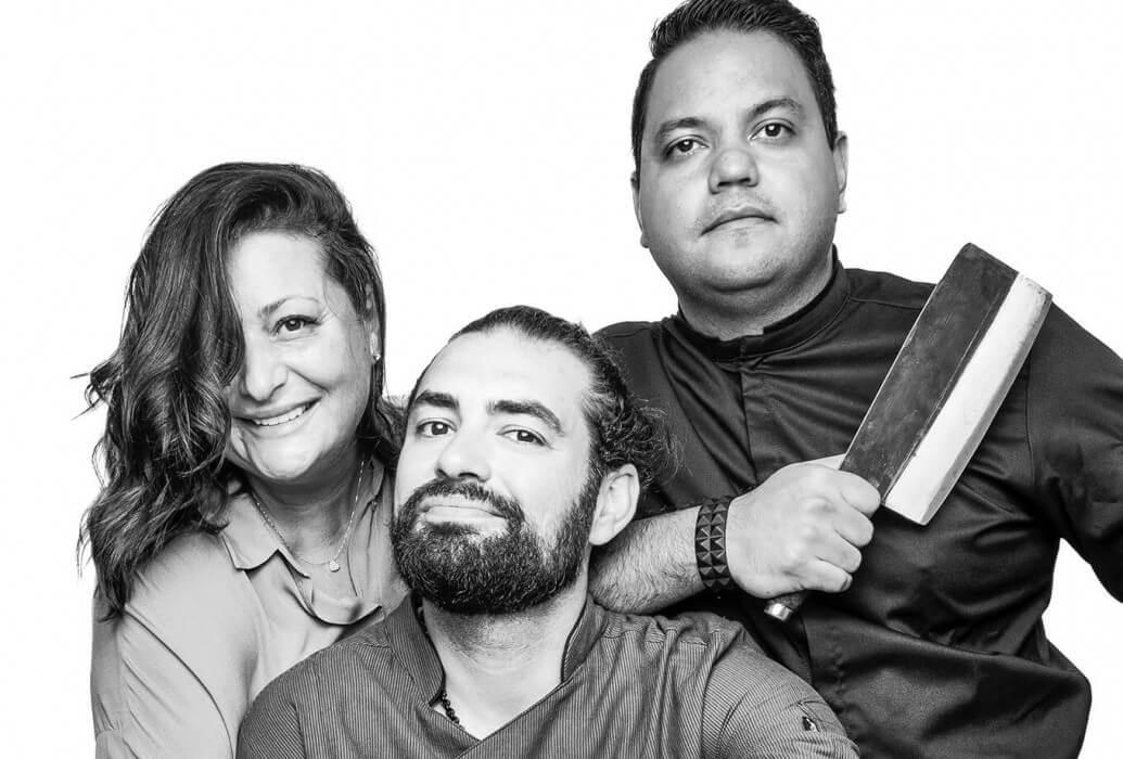 Chef ejecutivo José Bastardo, chef Rubén Pradana, manager Rosella Rendina. Restaurante Tatel Ibiza