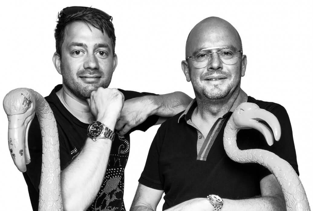Chef Malte Laurens y Marc Lindemann propietario de Marc's, Ibiza