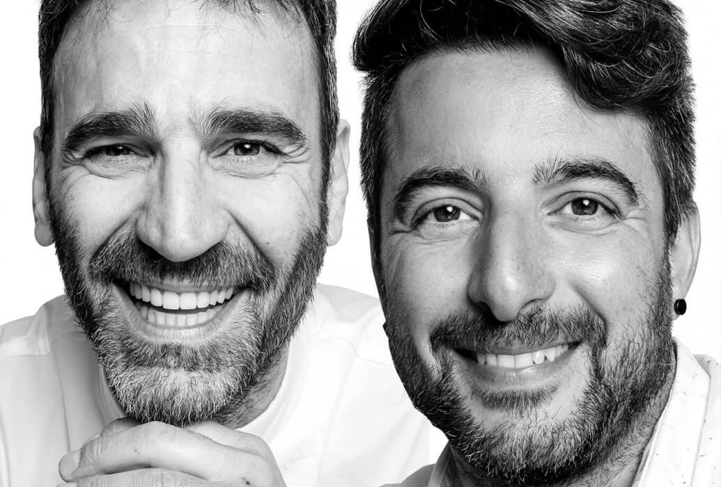 Chef ejecutivo y propietario Antonio d´Angelo y manager Simone Masuzzo. Molo 47, Formentera