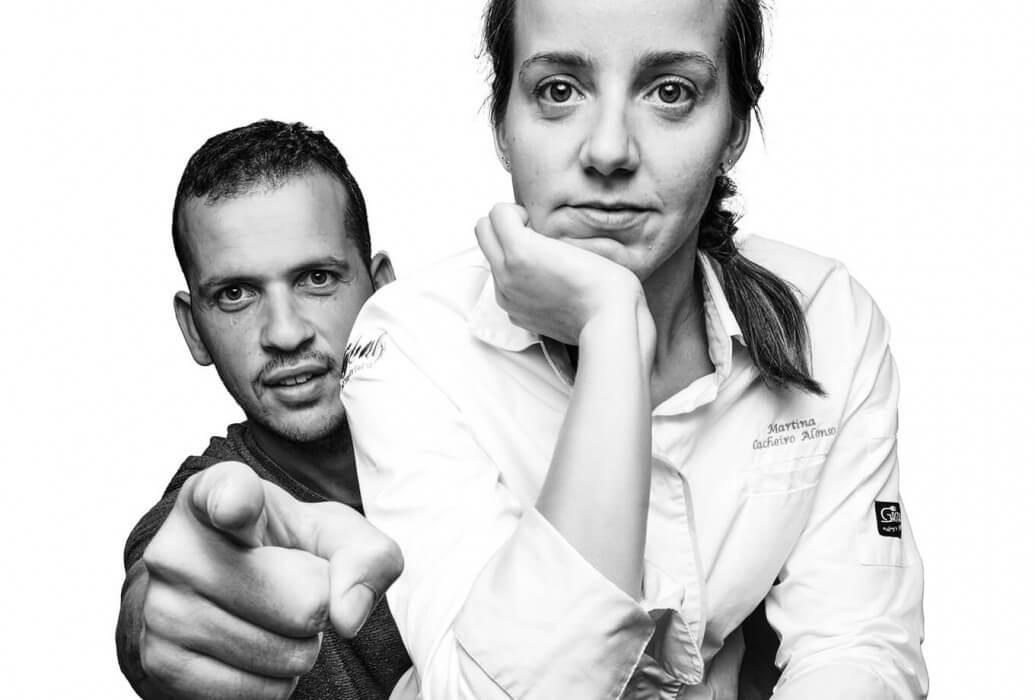 Martina Cacheiro y Rubén Sanchez. Restaurante Casbah Formentera