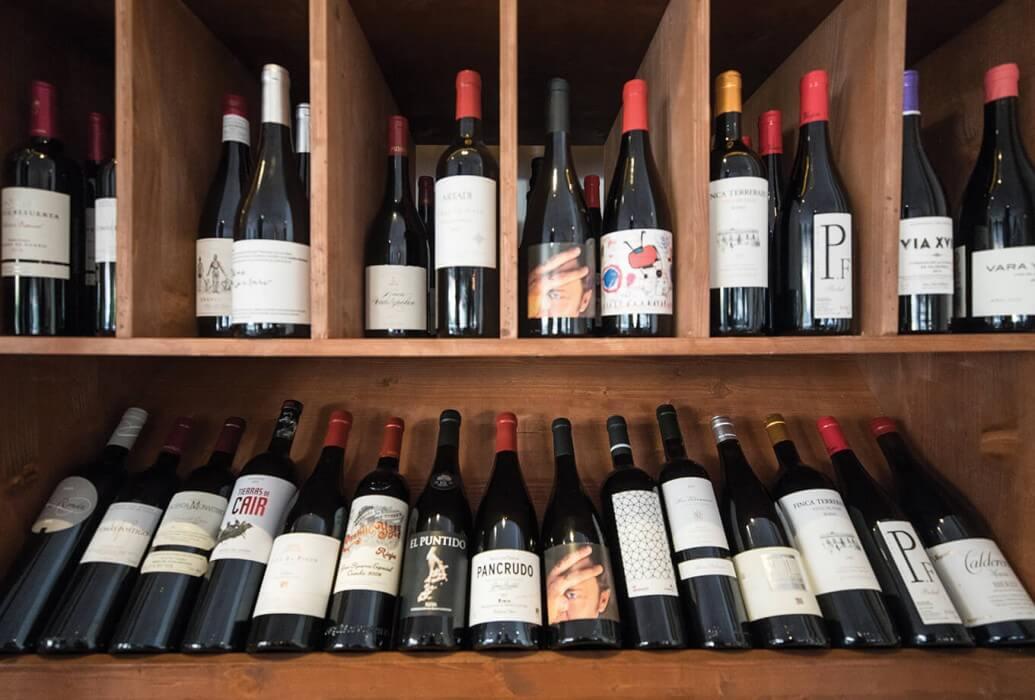Selección de vinos del restaurante Es Mercat, Ibiza