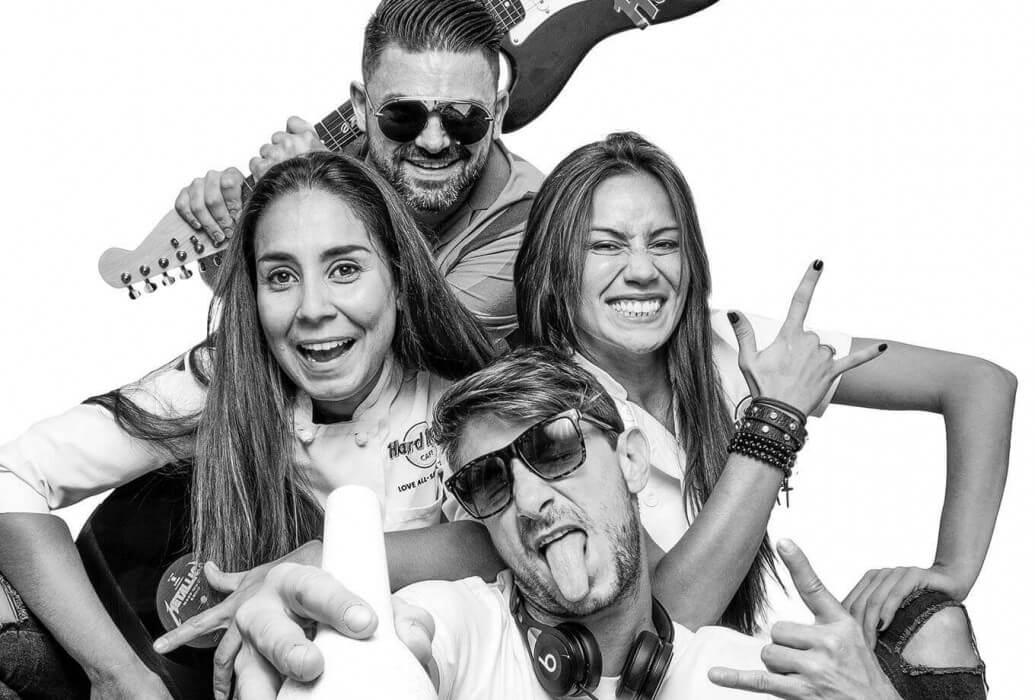Vittorio, Marta, Alexandro, Marian. Ellos son el alma de Hard Rock Café Ibiza
