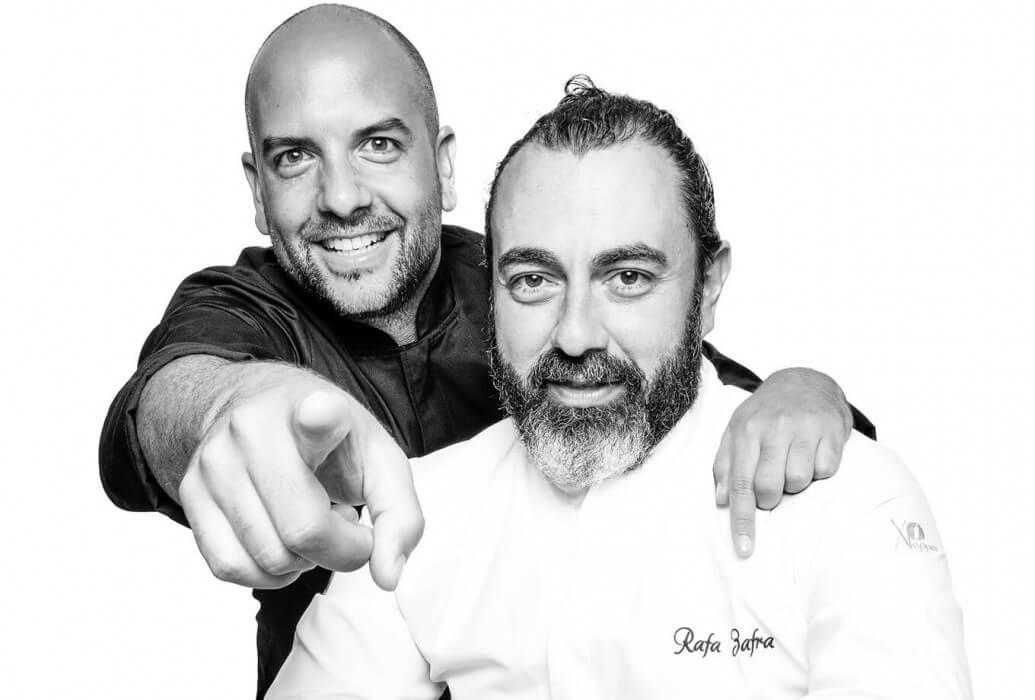 Chefs Rafa Zafra y Alberto Catiñeiras. Chiringuito Jondal, Ibiza
