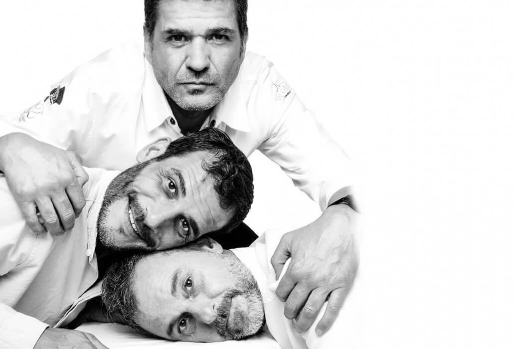 David Reartes, Matías Kelly y José Lui Carrillo. Restaurante Re.Art, Ibiza