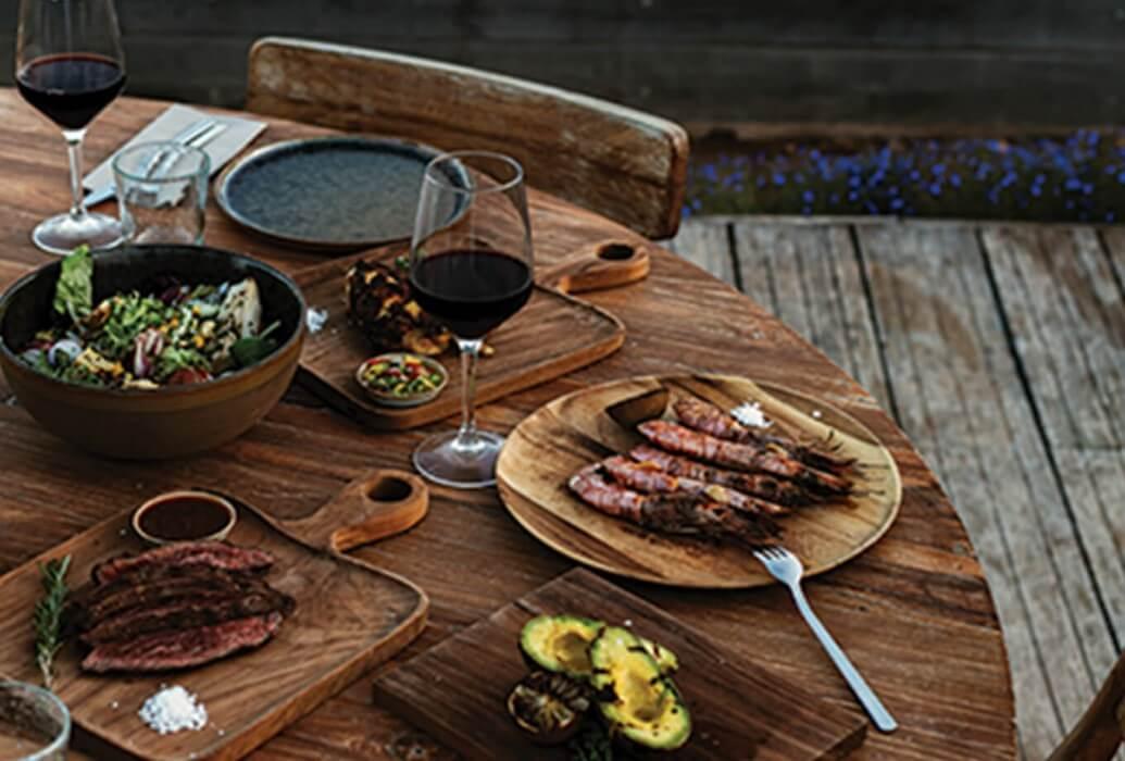 Platos preparados en grill estilo mallmann
