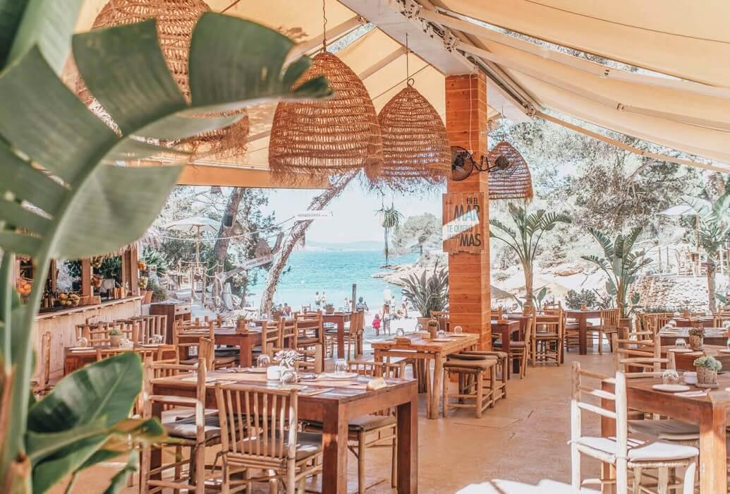 Vistas desde el restaurante Cala Gracioneta. Ibiza