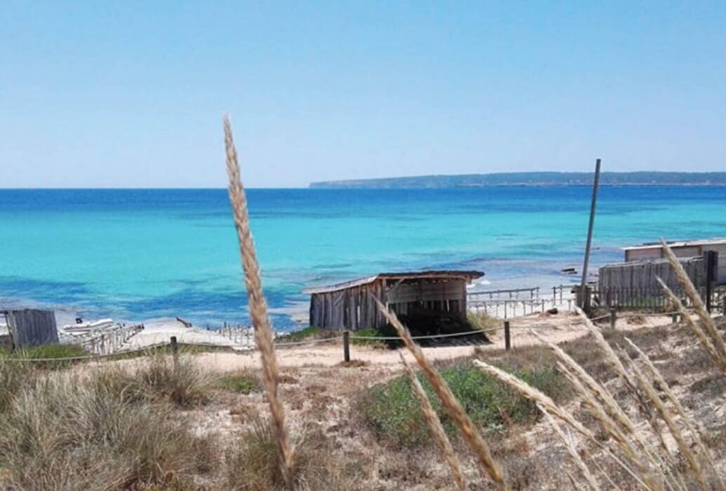 Vistas desde el restaurante Es Códol de Foradat. Formentera