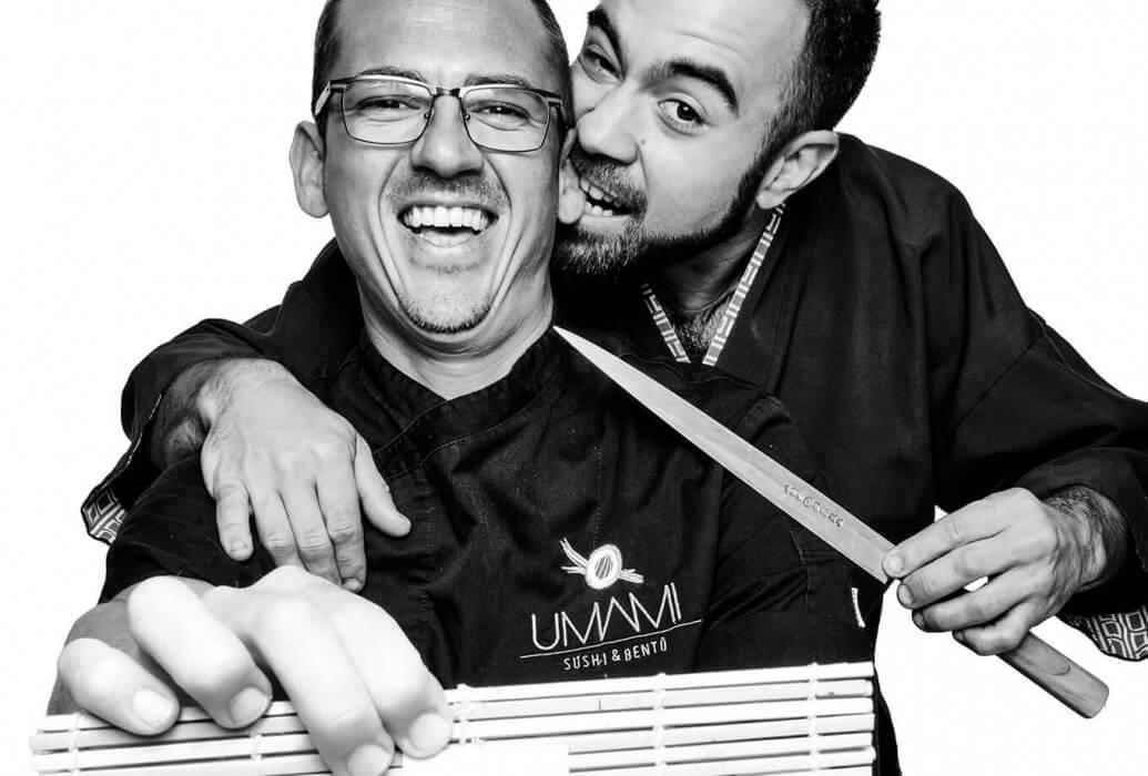 Mario Puertas y Carlos Navarro, chefs del restaurante Umami Ibiza Sushi & Bento