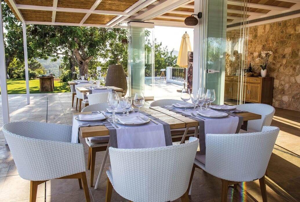 Terraza restaurante La'Era Ibiza