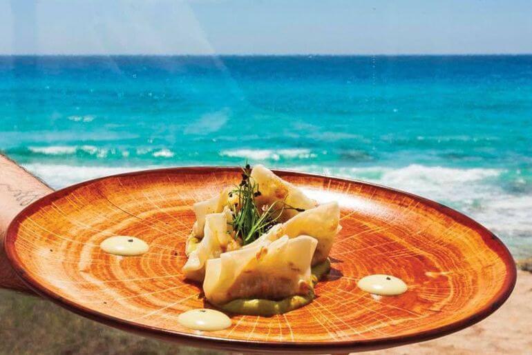 Gyozas de pescado. Es Cupinŕ, Formentera.
