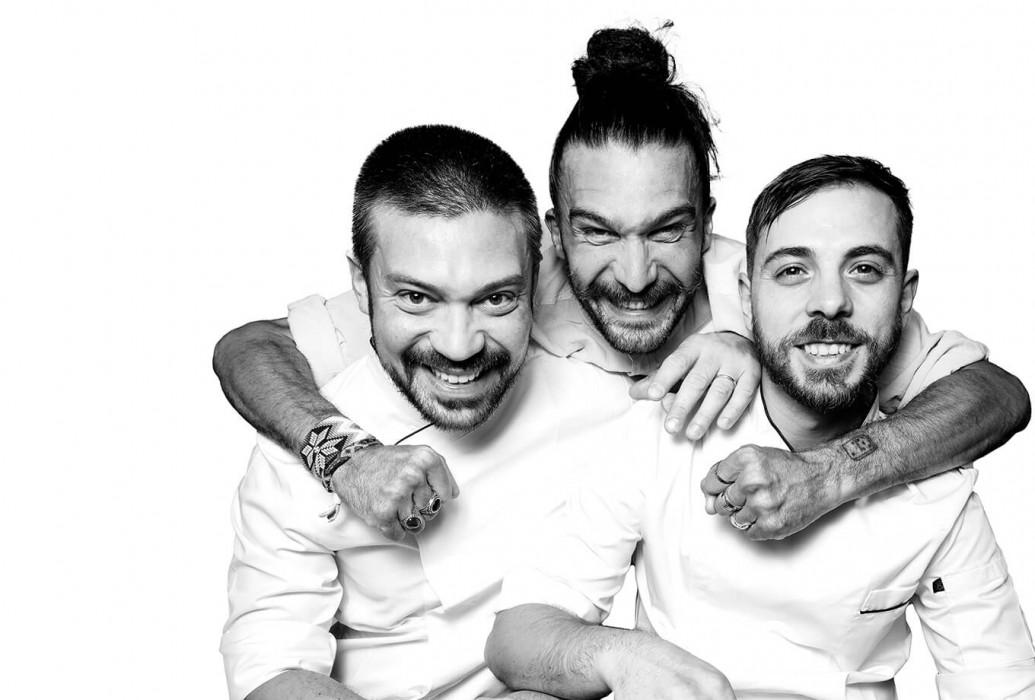 Marcello Erba, Massimiliano Cassolo y Michael Tiberto. Restaurante Yenuina Laboratorio de Pasta