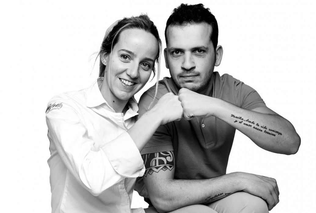 Executive chef Martina Cacheiro y Rubén Sánchez, manager. Restaurante Casbah Formentera