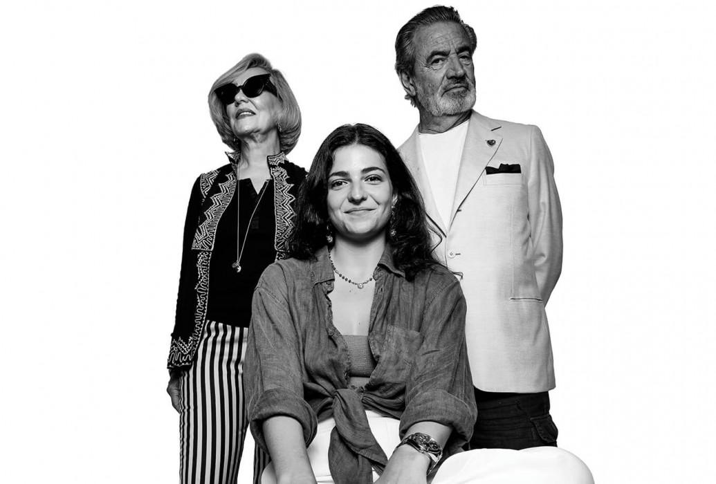 Massimo Lucarini, Luna Lucarini y Rosetta Montenegro. Restaurante Las Dos Lunas