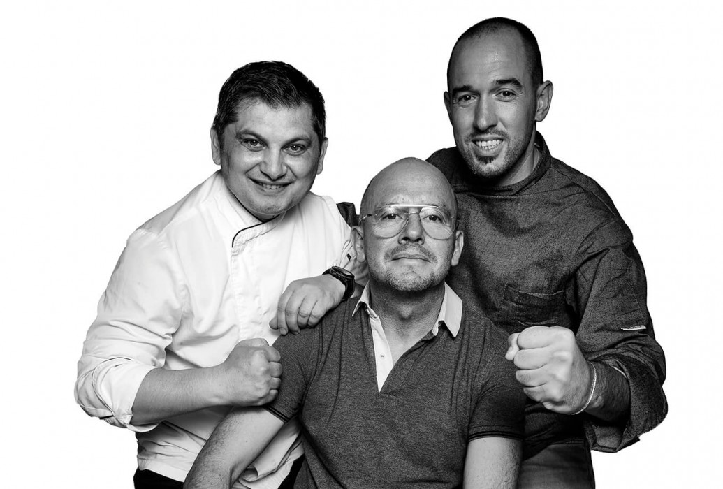 Merjan Alberto, Agustin Rozyk y Marc Lindemann. Marc's Restaurante, Ibiza