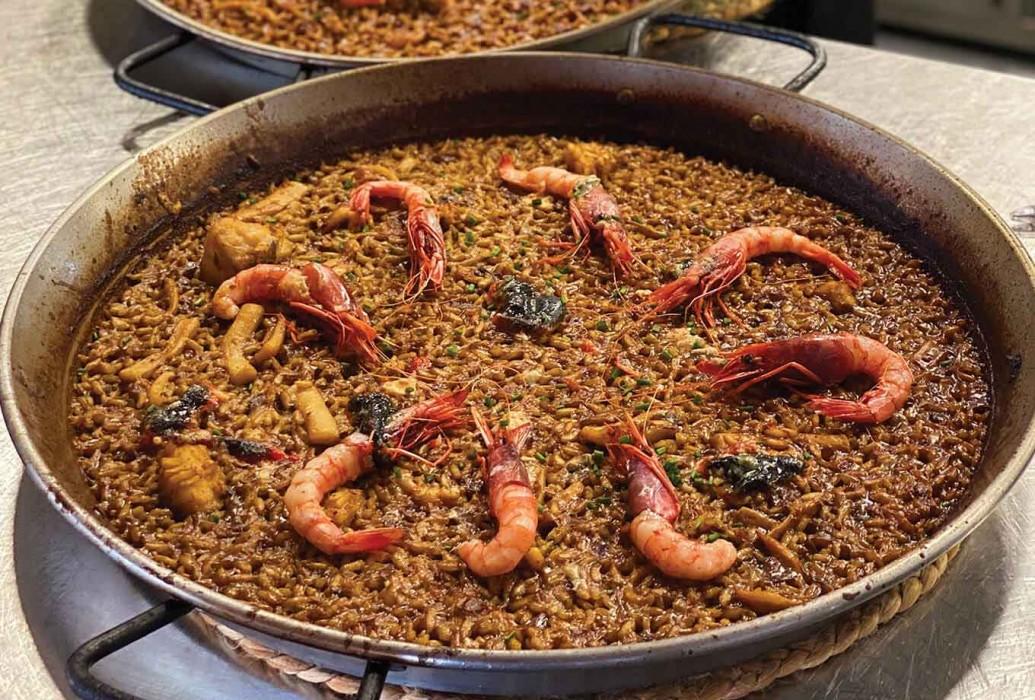 Paella. Restaurante Aigua Aire, Formentera