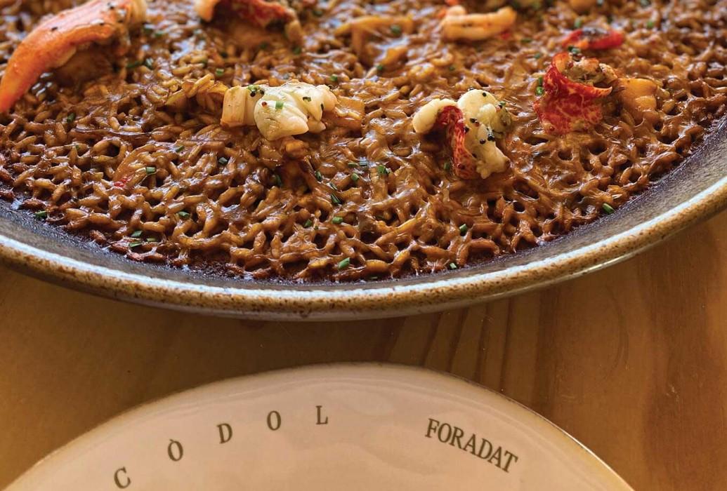 Paella. Restaurante Es Còdol Foradat. Formentera
