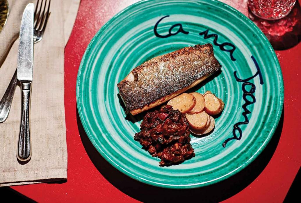 Pescado. Restaurante Ca Na Joana, Formentera