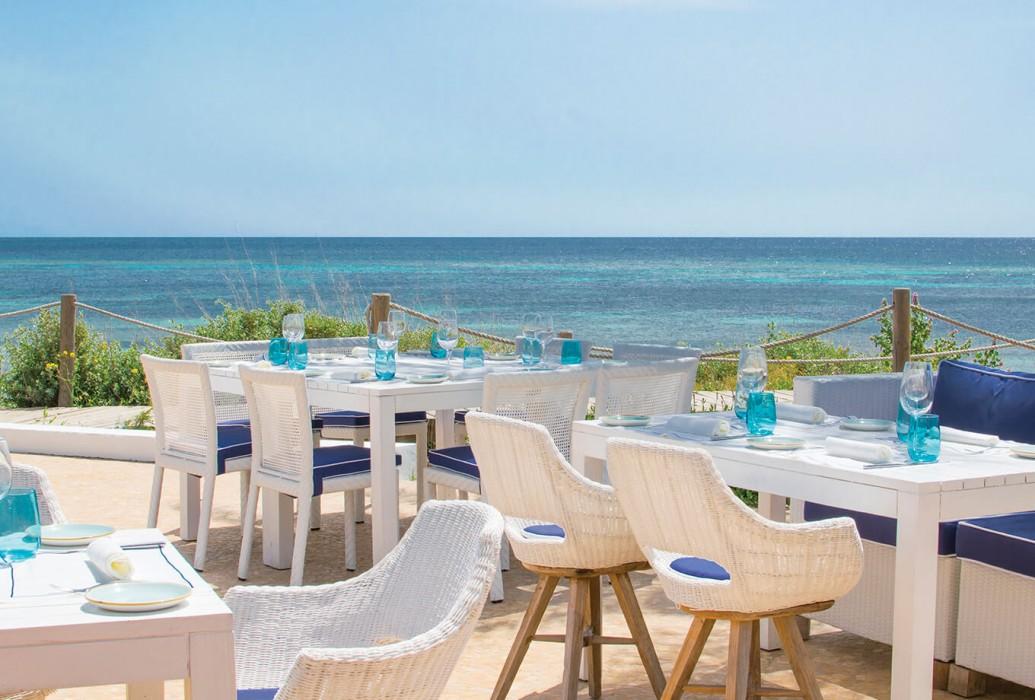 Restaurante de Gecko Hotel & Beach Club. Formentera