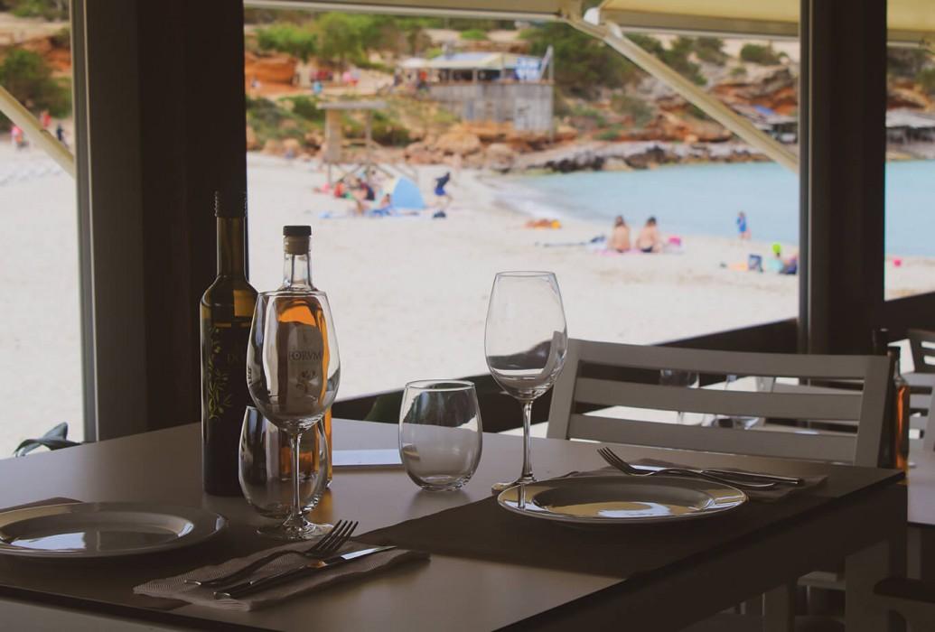 Restaurante Sol. Cala Saona, Formentera