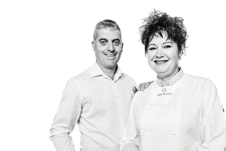 Santiago Costa y Antonia Ibáńez. Es Caló, Formentera