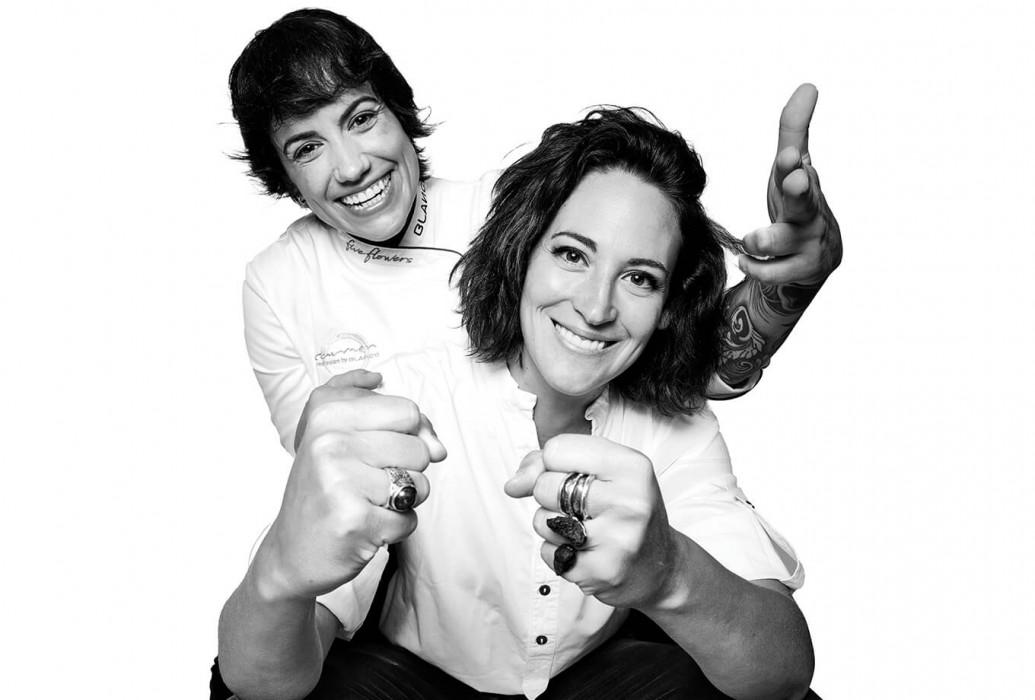 Sara Valls y Sara Celia Torreblanca. Restaurante Janis, Formentera